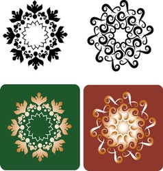 Decorative flowers 8 vector image
