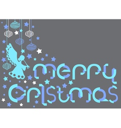 Christmas Card with paper letters vector image