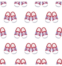Sneakers seamless pattern vector