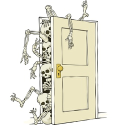 skeletons in the closet vector image