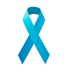 Awareness blue ribbon world prostate cancer day vector