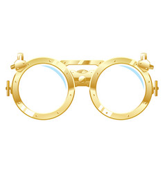 Steampunk glasses vector
