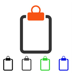 Empty pad flat icon vector
