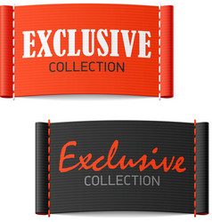 Exclusive collection clothing labels vector image
