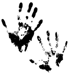 Hand print  set of 2 imprint vector