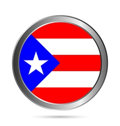 Puerto rico flag button vector