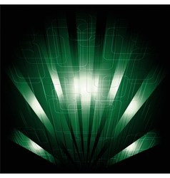 Abstract business science or technology dark green vector