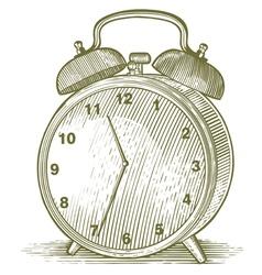 Woodcut Clock vector image