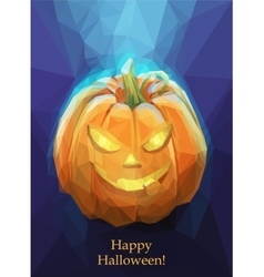 Low poly polygon pumpkin for halloween vector