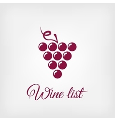 Stylized grapes design element logo vector
