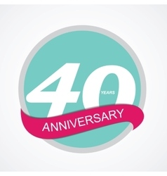 Template logo 40 anniversary vector