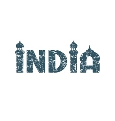 India hand lettering vector