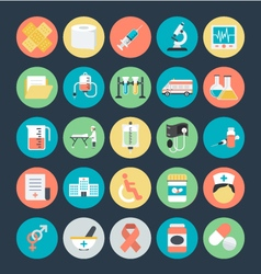 Medical colored icons 1 vector