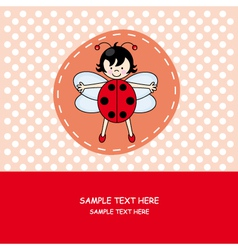 Girl with ladybug costume vector