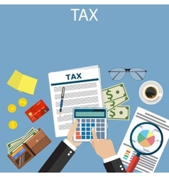 Tax payment government taxes vector