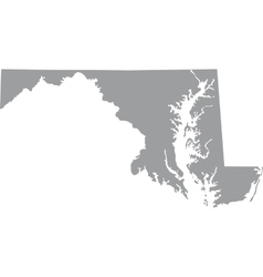 US state of Maryland vector image