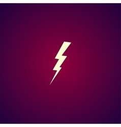 Lightning or icon vector
