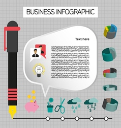 Business idea infographic with icons persons and p vector
