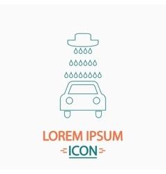 Car wash icons set - computer symbol vector