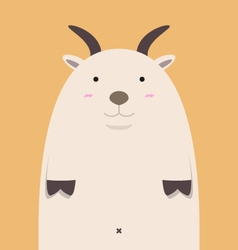 cute fat big goat vector image vector image