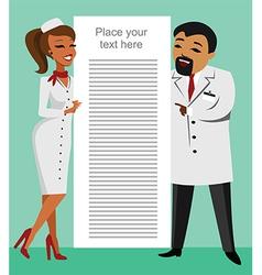 Doctors vector image vector image