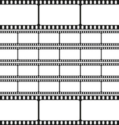 Film strips seamless pattern retro background vector image