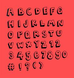 fun doodle sketch alphabet set vector image