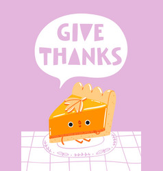 Give thanks vector
