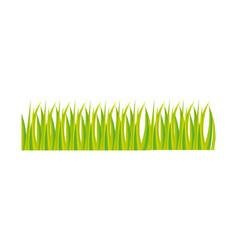 Green grass ornament icon design vector