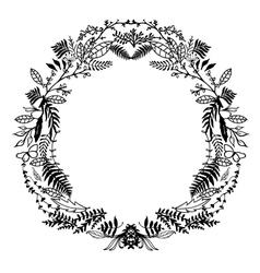 Hand sketched floral frame vector