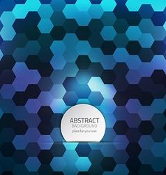 hexagon background 2 vector image vector image