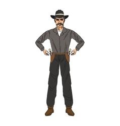 Isolated cowboy cartoon design vector image
