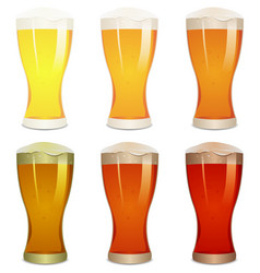 Lager amber and stout beers set vector