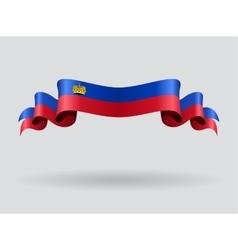Liechtenstein wavy flag vector image vector image