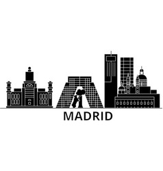 Madrid architecture city skyline travel vector