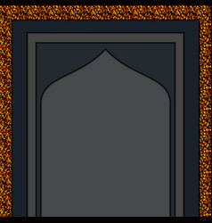 moslem mosque gold entrance vector image