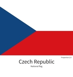 National flag of Czech Republic with correct vector image