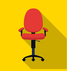 Office chair icon in flat style isolated on white vector