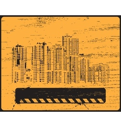 Old shabby skyline condominium vector image