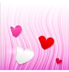pink wavy Valentines Day background vector image