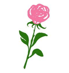 rose blossom tattoo graphic art symbol flower vector image