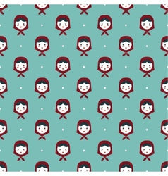 russian doll matreshka seamless pattern vector image
