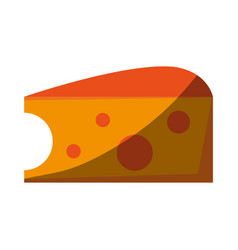 Salted cheese food vector