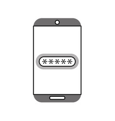 Smartphone device with password isolated icon vector