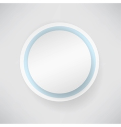 white paper round bubble vector image