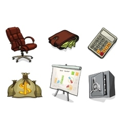 Business cartoon icons vector