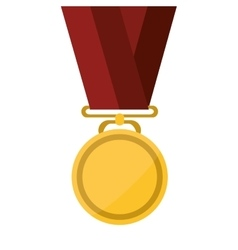 Single medal icon vector