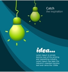 Lamp symbol idea vector