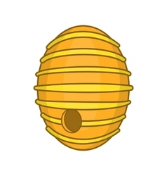 Round beehive icon cartoon style vector