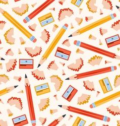 Pencils pattern vector image